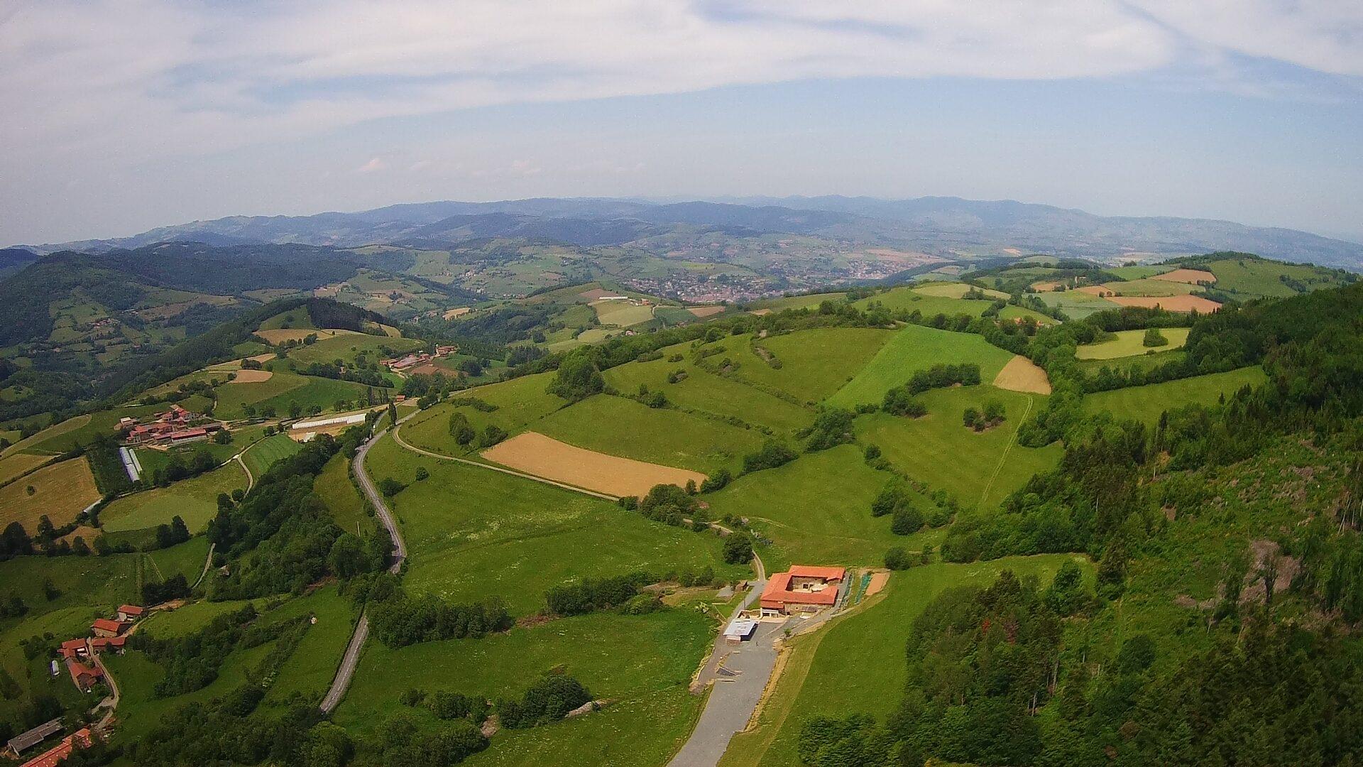 photo drone vue de tres haut